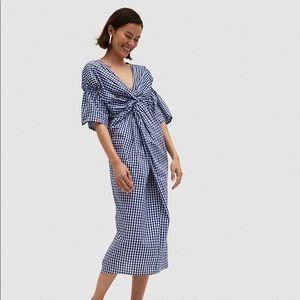 Farrow Daytona Gingham Check Dress Blue